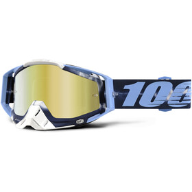 100% Racecraft Anti Fog Mirror Goggles turkos
